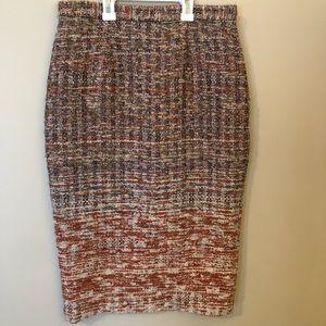 Alice + Olivia skirt 6 Wool Silk